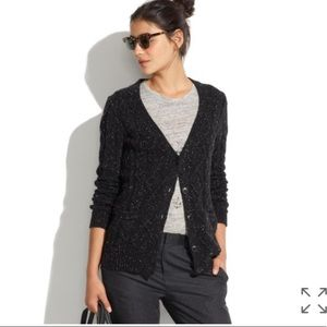 Madewell Diamond Cable Knit V Neck Cardigan
